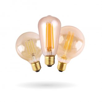 SYNERJI LED Vintage Filament Lamps